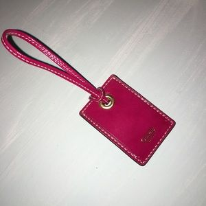 NEW Leather Coach luggage tag